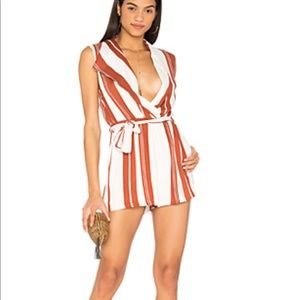 NWOT Revolve Striped Romper